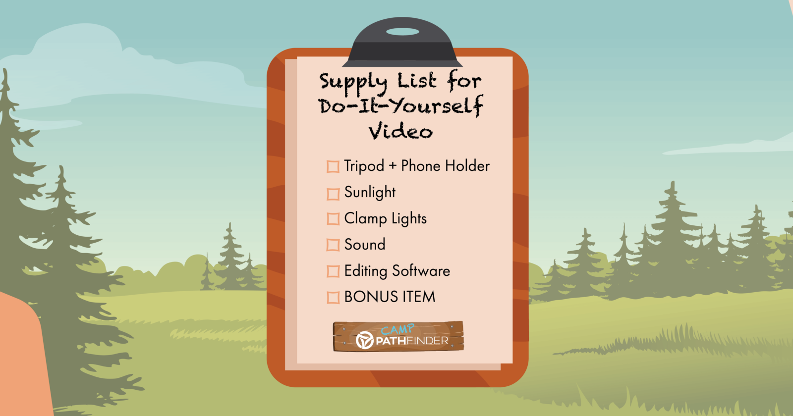 Supply List for Do-It-Yourself Video