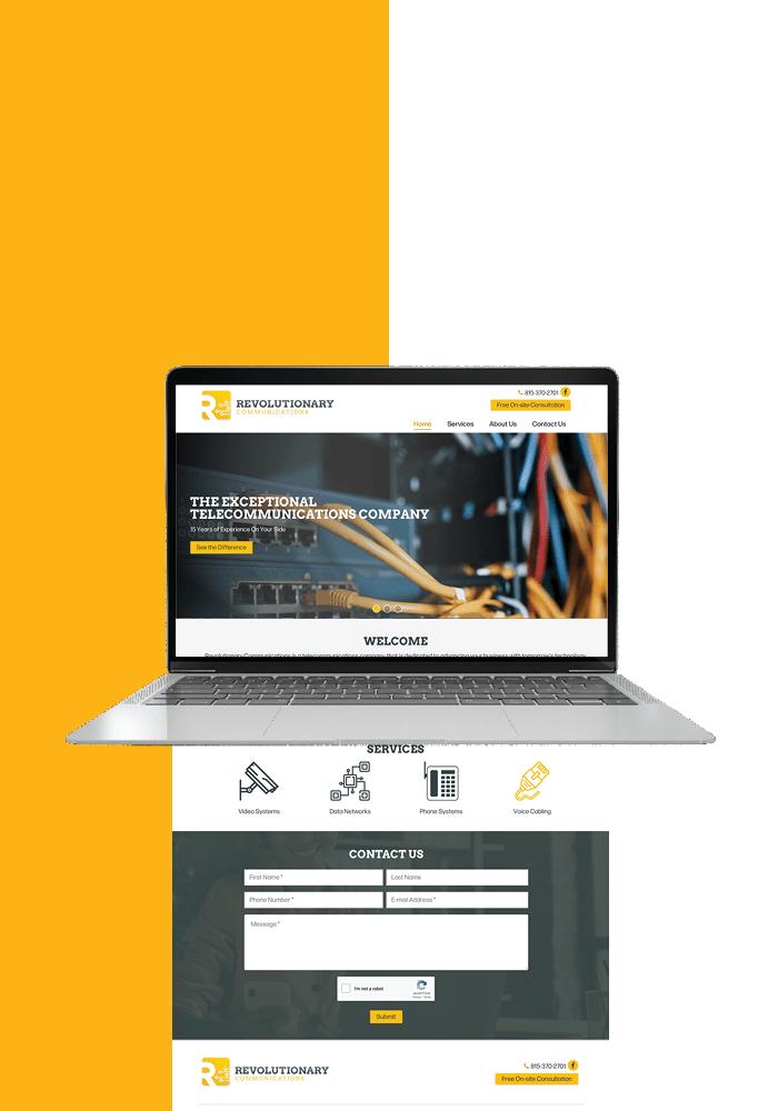 Revolution Communications new website - portfolio graphic