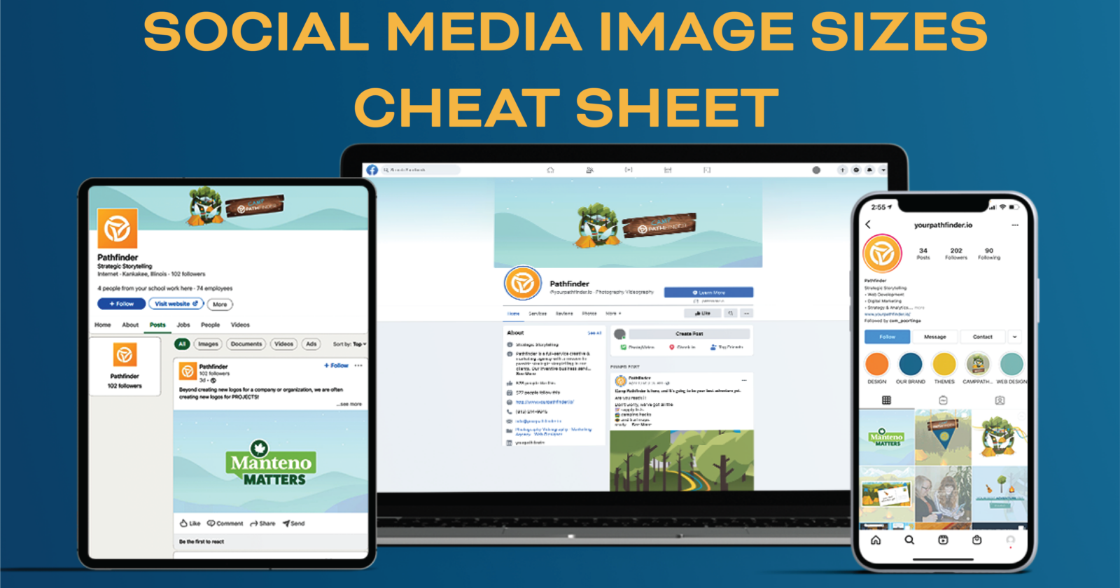 Social Media Images Sizing Cheat Sheet, 2021